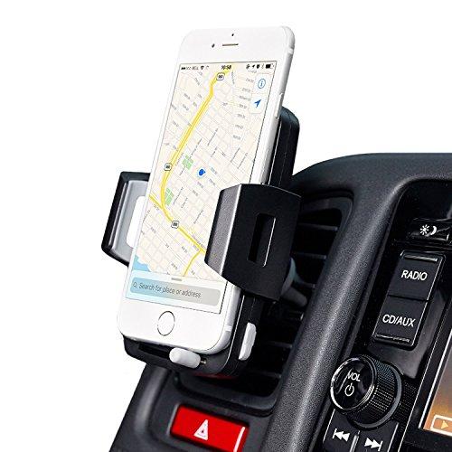 携帯車載ホルダー、ZENBRE CM3エアコン吹き出し口取り付けスマホホルダー/自由調節可能/360度回転可能/取り外しボタン付き/多機種対応(吸盤)