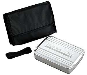 オーエスケー ミュージックアルミ 1段 お弁当箱 バッグ付 AL-6HC