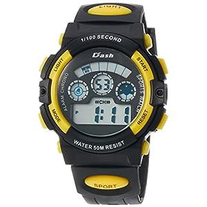 [アリアス]ALIAS 腕時計 デジタル DASH 5気圧防水 ウレタンベルト イエロー ADWW17099-03 メンズ