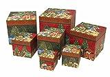 パンチスタジオ 【クリスマス】 収納ボックス キューブボックス 7点セット (ネコ×クリスマスツリー) 94878N