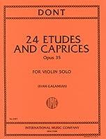 ドント: 練習曲とカプリス Op.35/ガラミアン編/インターナショナル・ミュージック社/バイオリン教本