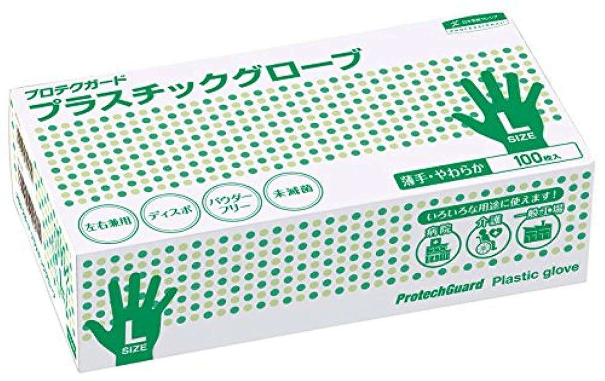 運賃パンチ割合プロテクガード プラスチックグローブ