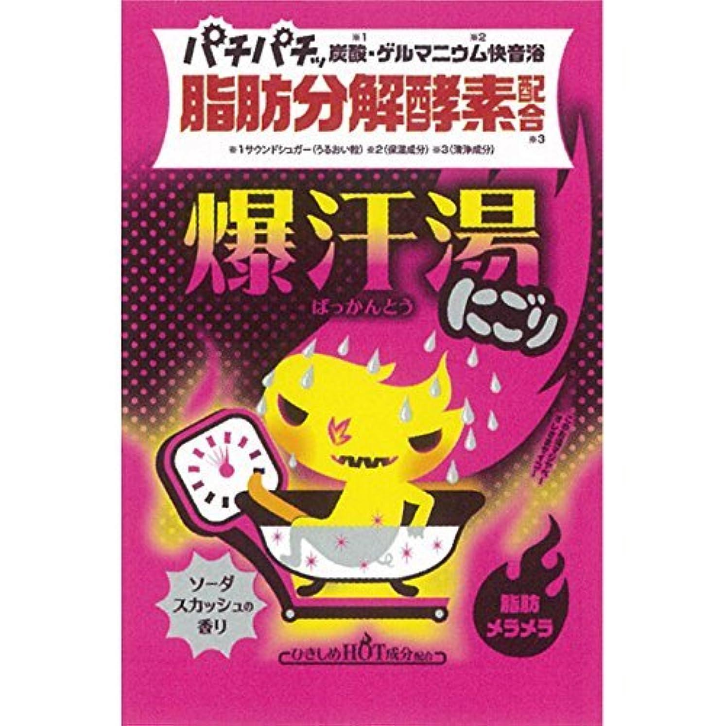 石炭単なる寄付爆汗湯 ゲルマニウム快音浴 にごり ソーダスカッシュの香り(入浴剤)