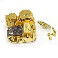 DIY 18NoteゴールドメッキワインドアップMusicalメカニズム音楽ボックスMovement Many Tunes SXA-00048