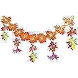 秋装飾 優美紅葉トンボガーランド 180cm 6664