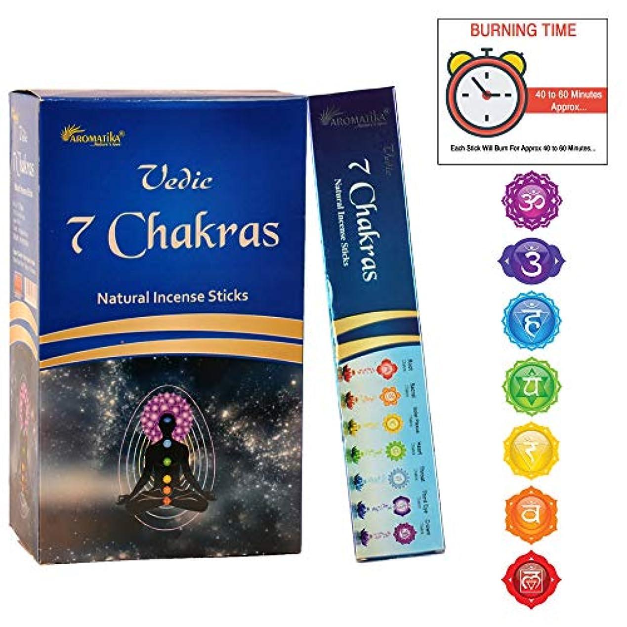 ほうきチームインサートaromatika 7チャクラ15 gms Masala Incense Sticks Pack of 12
