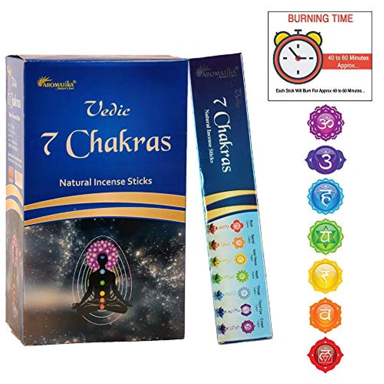 杭膿瘍シートaromatika 7チャクラ15 gms Masala Incense Sticks Pack of 12