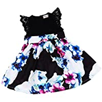 HOMYL Mother Daughter Matching Clothes Flower Mom Kids Parent Dress Outfits