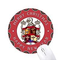 ヨーロッパの中世の騎士の鎧のエンブレム 円形滑りゴムのクリスマスマウスパッド