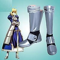 Fate/Zero フェイト·ゼロ  セイバー(Saber) コスプレ靴 コスプレブーツ オーダーサイズ製作可能 大人気 (24.5cm, 男性)