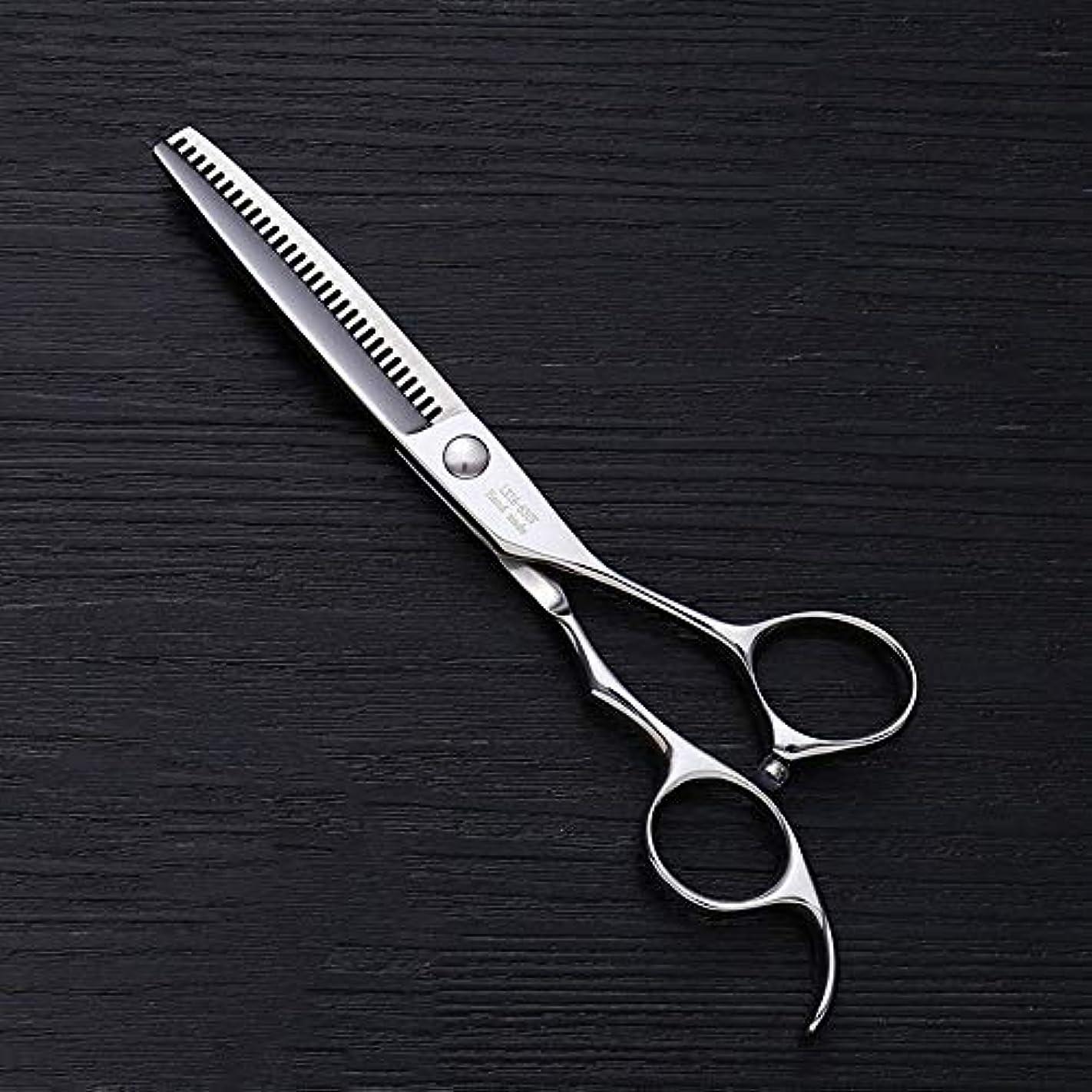 ビジュアル雄弁家ギャラリー6インチの美容院のステンレス鋼の専門のバリカン、30本の歯の魚の骨は専門の薄いせん断を切りました モデリングツール (色 : Silver)