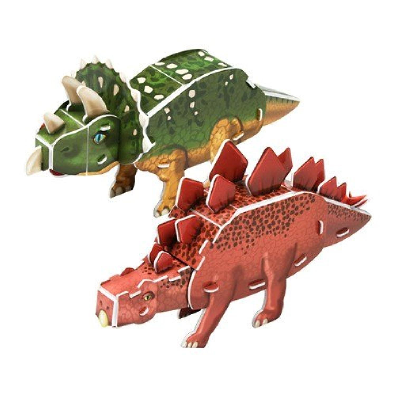 3d Puzzle - triceratops, stegosaurus