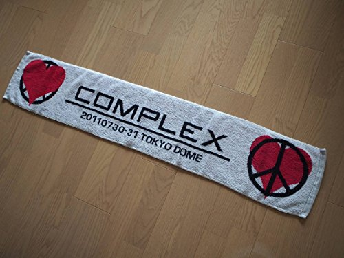 COMPLEX マフラータオル ハート&ピース 日本一心 2011 東京ドーム 吉川晃司 布袋寅泰 グッズ