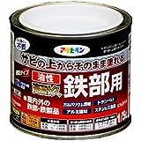 アサヒペン 油性高耐久鉄部用 ツヤ消し黒 1/5L