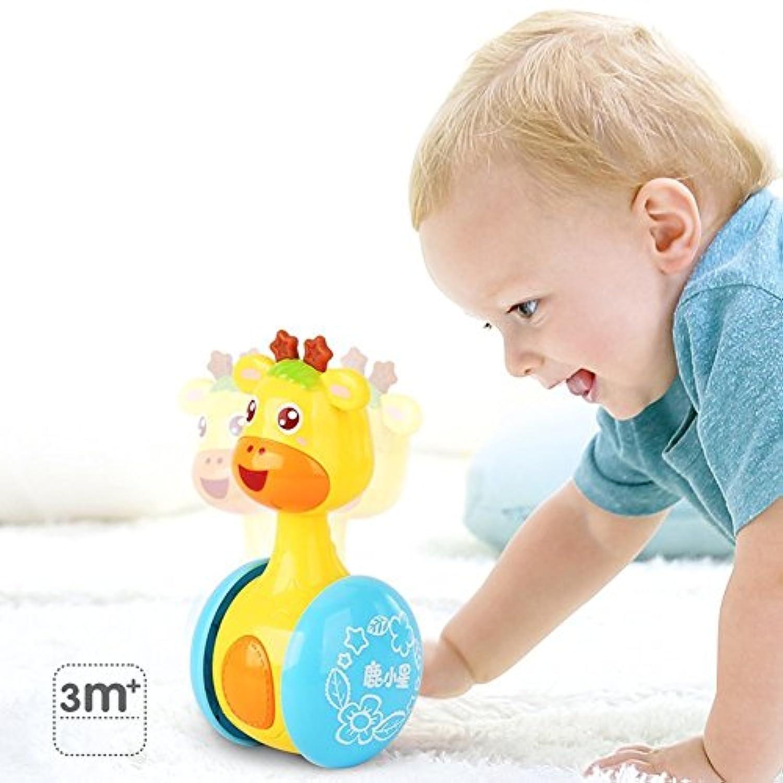 赤ちゃん&幼児用おもちゃ人形漫画キリンタンブラー赤ちゃんおもちゃキュートRattlesリングベルNewborns 3 – 12ヶ月の早期教育玩具クリスマスギフト