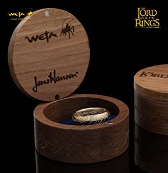 THE LORD OF THE RINGS: THE ONE RING - 10K SOLID GOLD (WITH ELVISH RUNES) ロード・オブ・ザ・リング ひとつの指輪―10K純金(文字刻印あり)20号