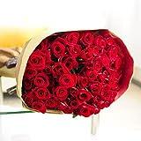 国産 赤バラ ブーケ 50本 ※皇室献上実績のある農家より直送 <結婚記念日 プロポーズ 誕生日プレゼント その他イベントに>