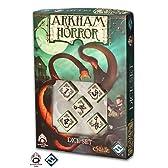 Q-WORKSHOP Call of Cthulhu Arkham Horror Dice Set beige & Black (コールオブクトゥルフ アーカムホラー ダイスセット ベージュ&ブラック)