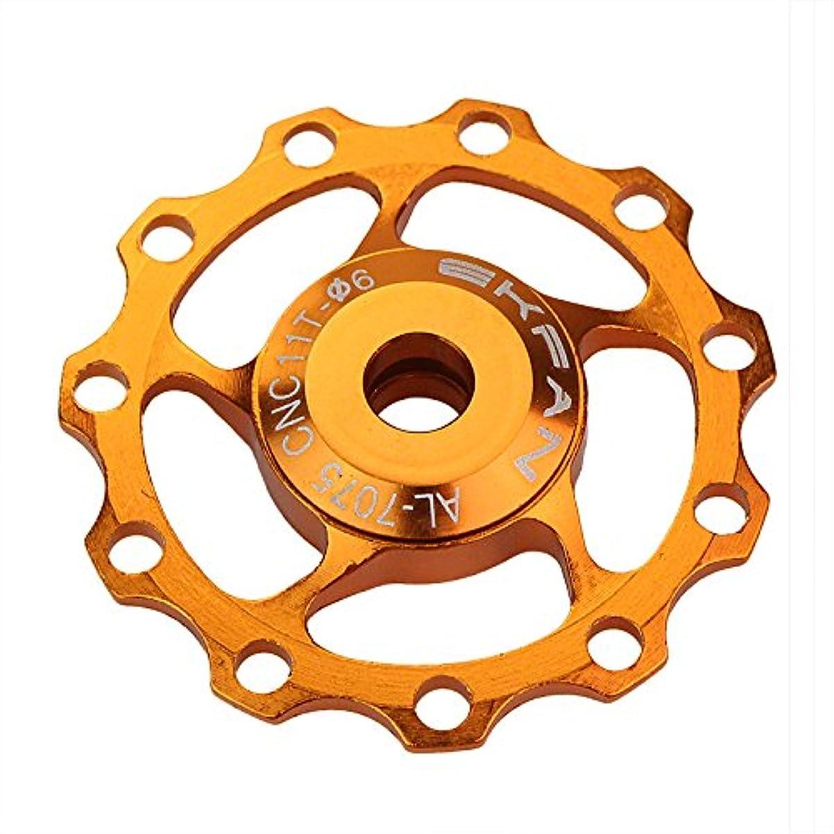 恨み悪用超えてEkfan11tアルミ合金mtb自転車リアディレイラー11tロードバイクガイドローラアイ部分サイクリングアクセサリー_オレンジ