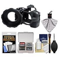 Madeゴム製カメラアーマーケース(ブラック) for Nikon d3000デジタルSLRカメラwith Spudz +クリーニングキット