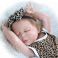 キュートReborn Babies人形Lifelike Fake Girl Asleep WithマグネットおしゃぶりKids ToyギフトPlaymateフルボディシリコン、23インチ