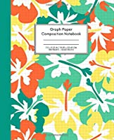 Graph Paper Composition Notebook: Quad Ruled 5x5 (5 squares per inch), Grid Paper for Science, Math & Engineering Students or Teachers (7.5 x 9.25 - 100 Sides) Bright Citrus & Grass Hues Design.