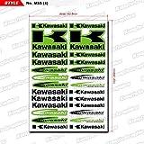 KUNGFU GRAPHICS カンフー グラフィックス KAWASAKI カワサキ レーシングスポンサーロゴ マイクロデカールシート (グリーン)