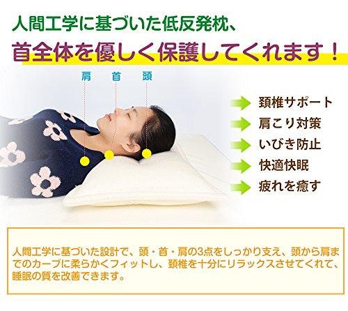 Mkicesky 至福の枕 安眠 低反発チップ枕 人気のいびき対策枕 頚椎安定型 首・頭・肩をやさしく支える健康枕 肩こり 頭痛 改善 呼吸が楽 日本人に適したジャストサイズ ピロー 【メーカー直営・1年保証付】