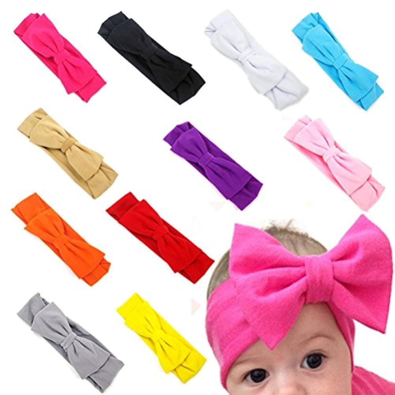 Ama ( TM ) 11pcs新生児赤ちゃん幼児用リボン付きゴムPhotographyヘッドバンドHeadwrap