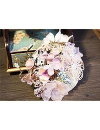 英国のレトロスタイルの花嫁 Fascinator アンチ本物のフラワーハットトップハットプリンセスウェディングヘアアクセサリーアクセサリーカクテル