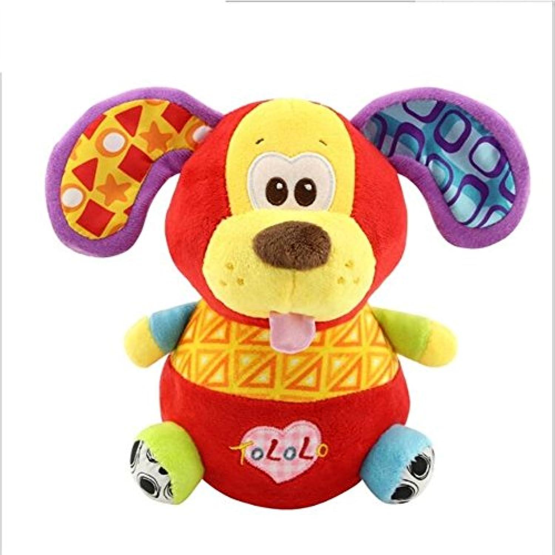 Keaner新生児幼児Roly - Polyおもちゃ犬Fun Shake Plush Toyタンブラー動物おもちゃギフト装飾_ (カラフル、犬)