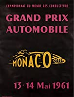 モナコ–13–14mai 1961年ヴィンテージポスターモナコC。1961 24 x 36 Giclee Print LANT-58149-24x36