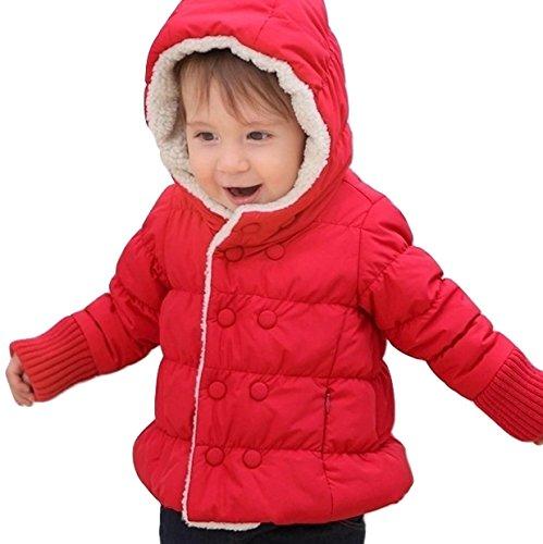 キュート で 暖か GIRLS BOYS 防寒 フード 付き...