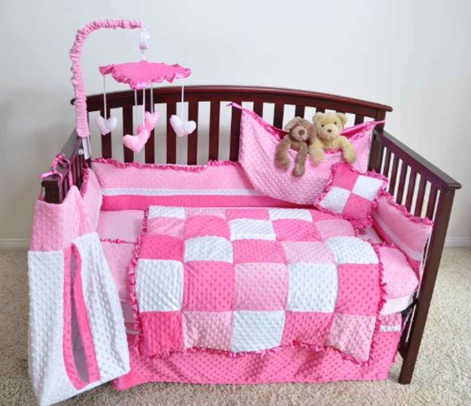 Neatbaby Designs 4 piece Crib Bedding Set, Pink by Neatbaby designs