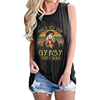 LANMERTREE Womens Vintage Tank Top Back to The Gypsy That I was Funny Retro Tank Stevie Nicks Graphic Hippie Music T Shirt