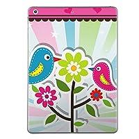 iPad mini4 スキンシール apple アップル アイパッド ミニ A1538 A1550 タブレット tablet シール ステッカー ケース 保護シール 背面 人気 単品 おしゃれ アニマル ユニーク ラブリー 花 鳥 ハート 004573