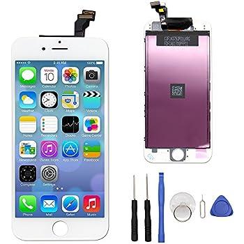 ce15d13112 iPhone 6 用 液晶 フロントパネル (修理交換用)、一体型(液晶 デジタイザ)、高品質 LCD 液晶画面、「iPhone 6 4.7インチ  」の 3Dタッチパネル / ガラス修理液晶 ...