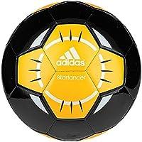 AdidasパフォーマンスStarlancer IVサッカーボール、ブラック/ホワイト/ソーラーgold-orange