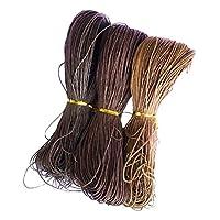 chiwanji コットン ワックスコード 蝋引き糸 紐 糸 全13カラー 3梱セット  - カラー13