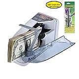 Aibecy 小型 ハンディ お札カウンター 紙幣 キャッシュ 通貨計数機 AC/バッテリー駆動 無料偽札感知ペン付き 携帯型