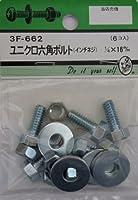 ビーバー(BEAVER) ユニクロ六角ボルト吋ネジ 1/4×16mm 3F662
