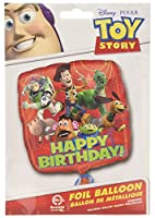 Anagram International HX Toy Story Gang Happy Birthday Packaged Party Balloons, Multicolor