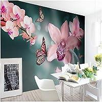 Mingld カスタム写真壁紙現代の美しい蝶蘭背景壁紙装飾寝室ホテルレストラン壁画-200X140Cm