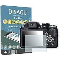 4 x Disagu FullFlex Fujifilm FinePix S4500対応 汚れ防止画面プロテクター(ディスプレイの曲面にもきれいにフィットします)