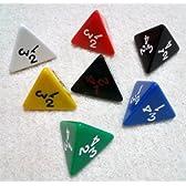 4面ダイス/サイコロ Opaque d4(4面体) 7カラー 7個セット