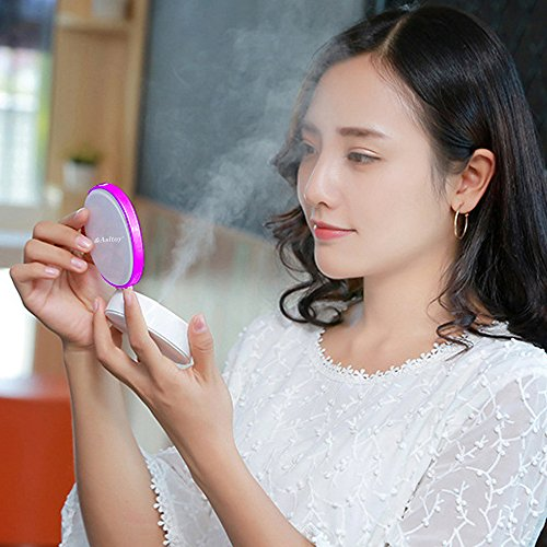 Asltoy ミスト補水美顔器 化粧鏡 3段調節 ライト ス...