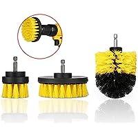 2/3.5 / 4インチイエロー電動ドリルブラシタイルグラウトパワースクラバータブクリーニングブラシ