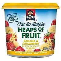 フルーツポットバナナ&ストロベリー58グラムのクエーカーオーツ麦とても簡単ヒープ (x 2) - Quaker Oat So Simple Heaps of Fruit Pot Banana & Strawberry 58g (Pack of 2) [並行輸入品]