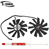 S-Union New Replacement Laptop CPU Cooling Fan for MSI R9-290X 280X 270X R7-260X GTX 760 770 Seires Part Number : PLD10010S12HH DC12V 0.40A (with Thermal Paste) [並行輸入品]