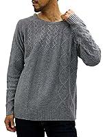 [キャサリンミュージアム] 大きいサイズ メンズ セーター ミディアムグレー 3L